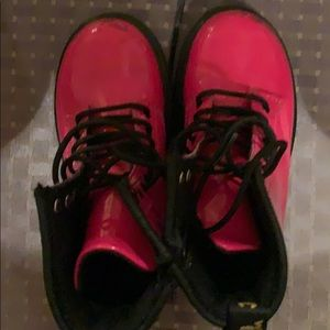 Toddler Dr. Martens Pink Patent Leather boots
